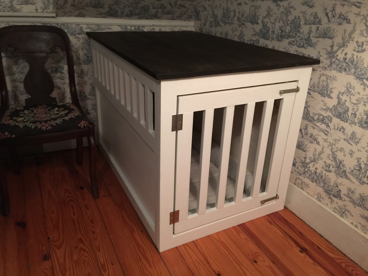 Extra Large Wood Pet Kennel End Table