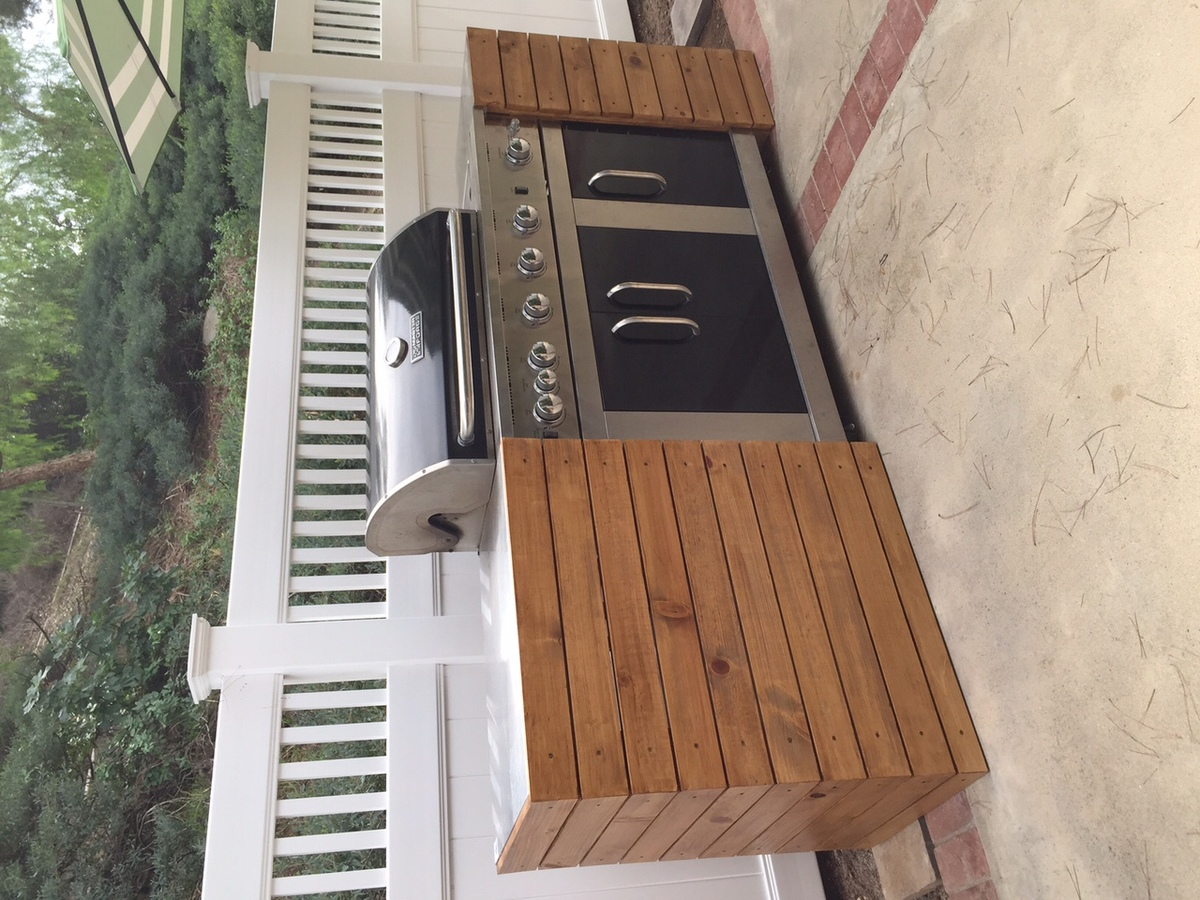 Ana White Barbecue Bbq Quick Built In Diy Projects
