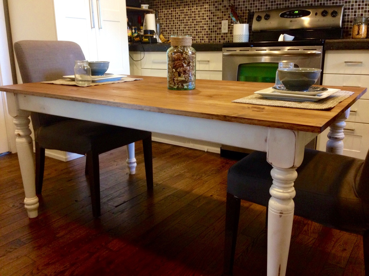 Turned Leg Farmhouse Dining Table Ana White