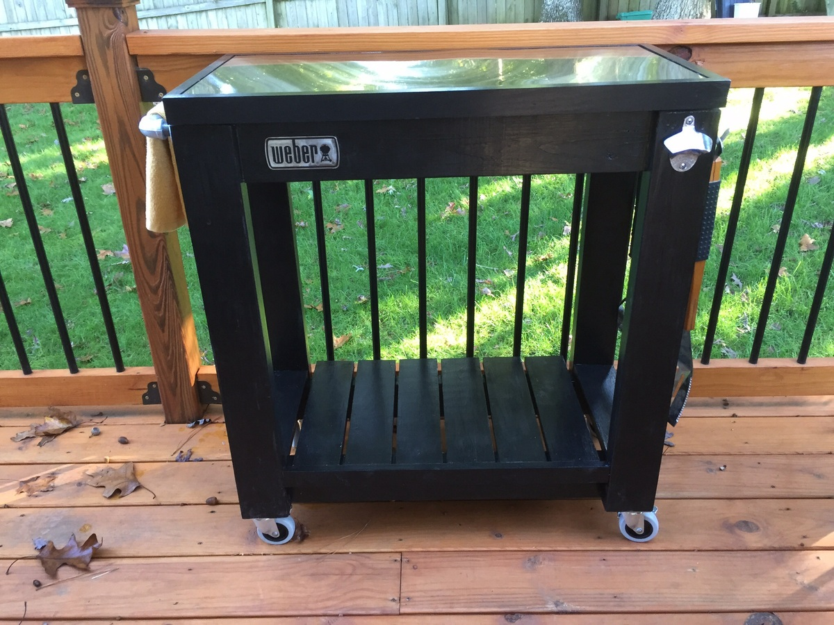 Ana White | Rolling grill cart table - DIY Projects