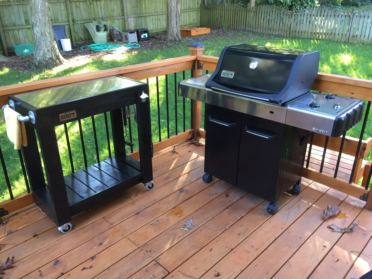 Ana White Rolling Grill Cart Table Diy Projects