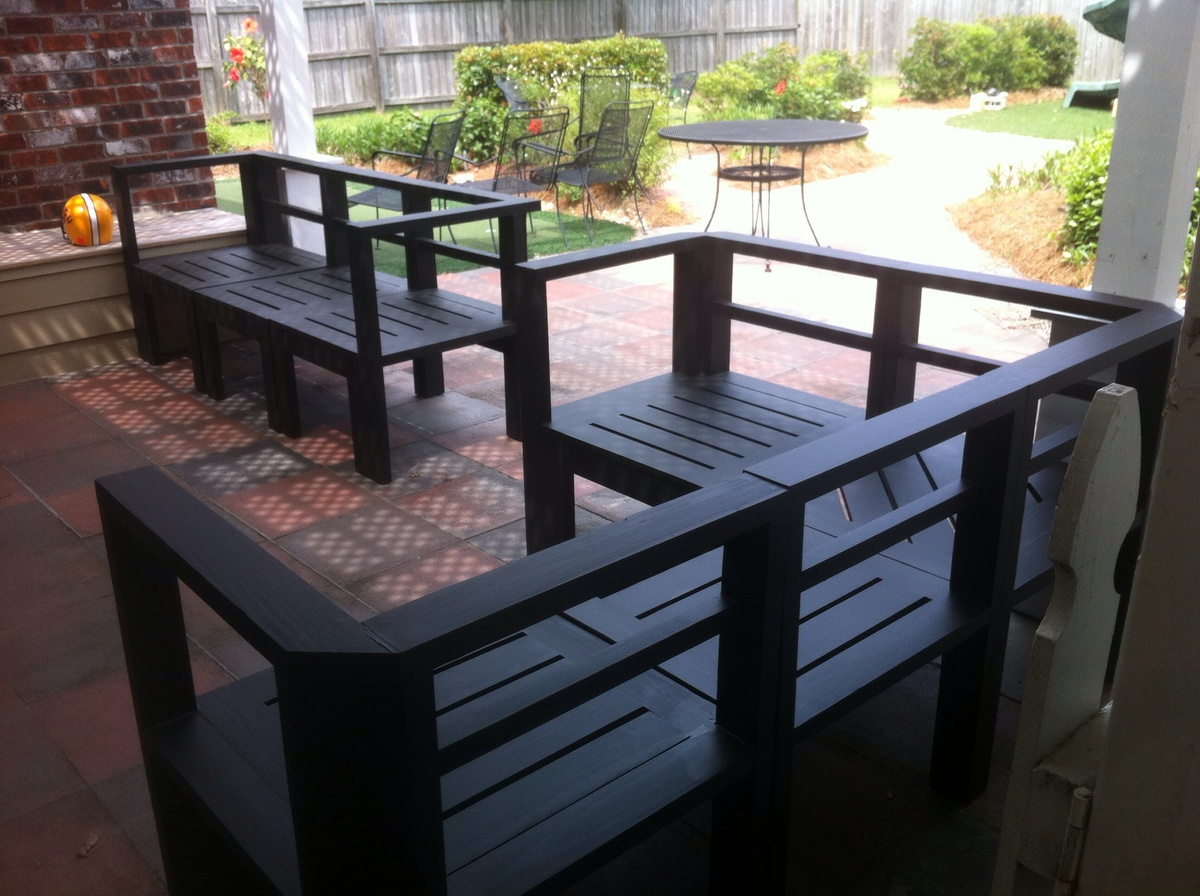Ana White Simple Outdoor Sectional Diy Projects