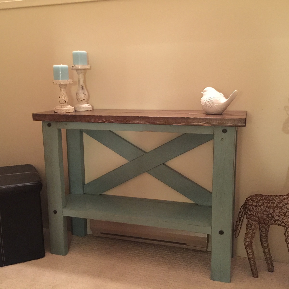 Diy crate console table - Mini Console Table