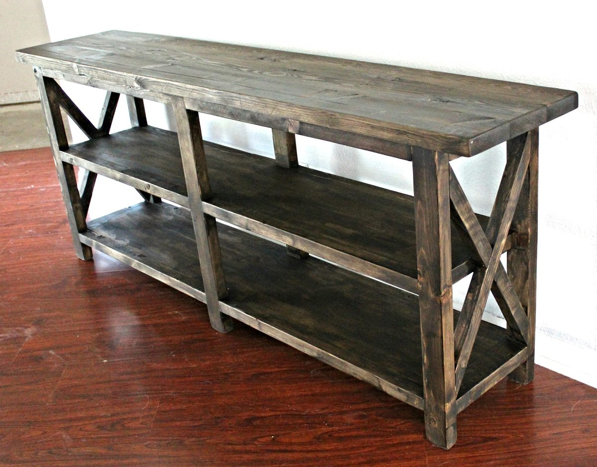 Ana white rustic console table diy projects