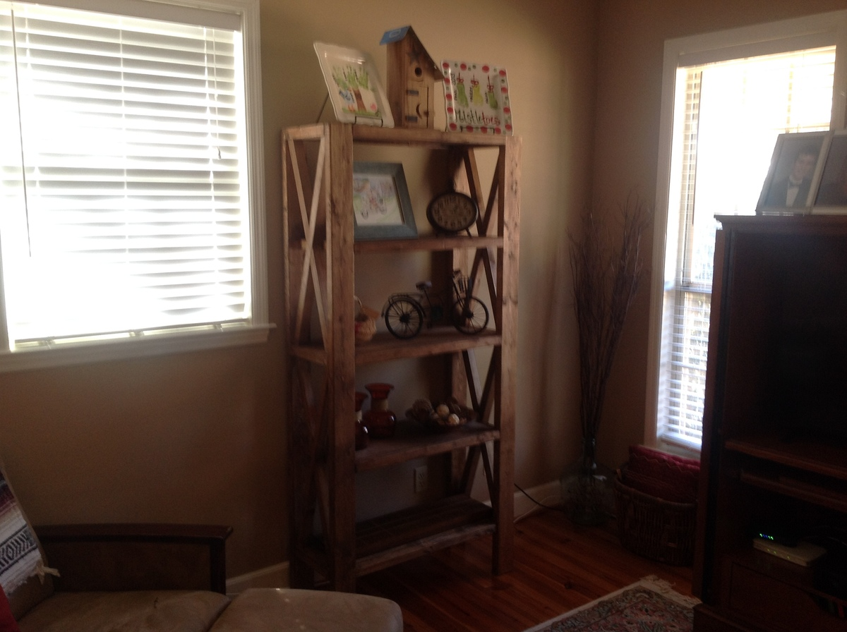 Variations On Rustic X Shelves Ana White