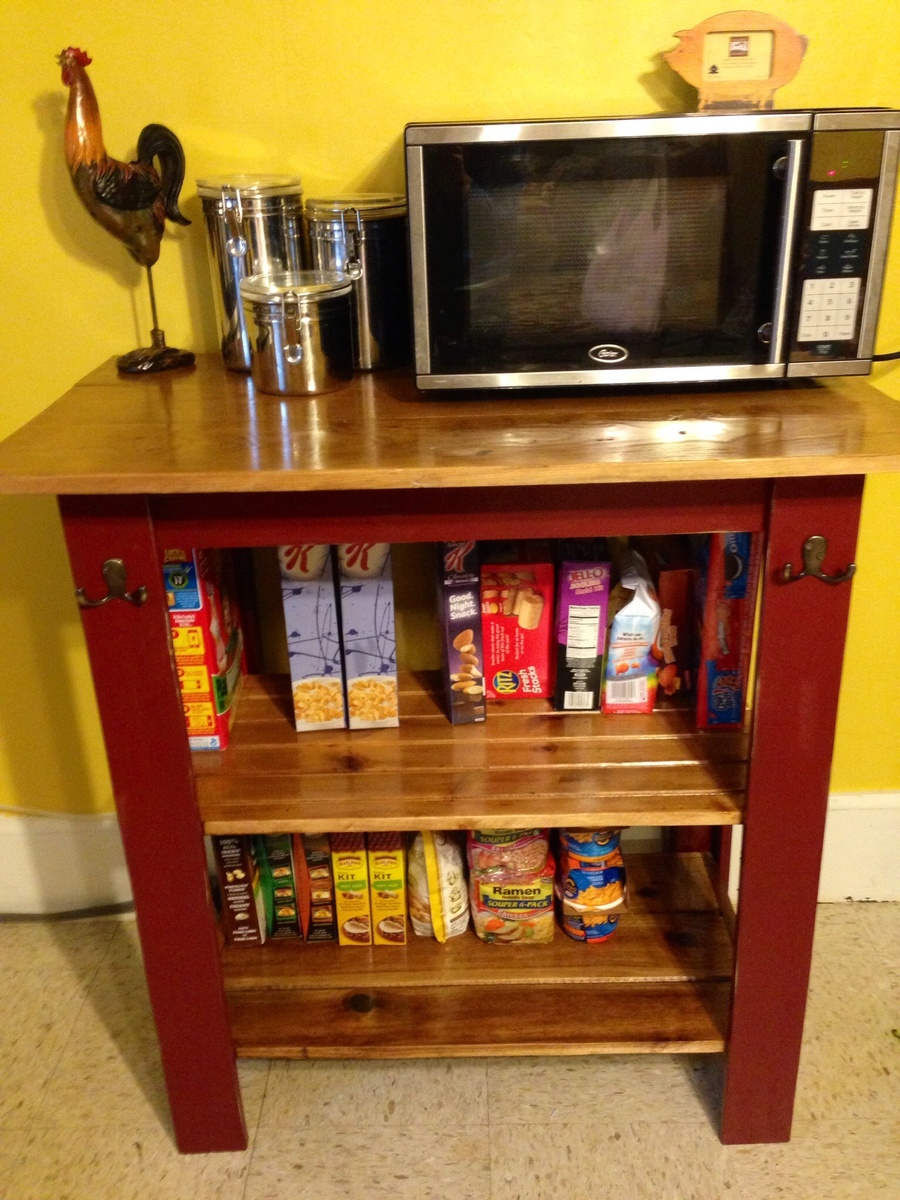 Ana White Console As Microwave Cart Diy Projects