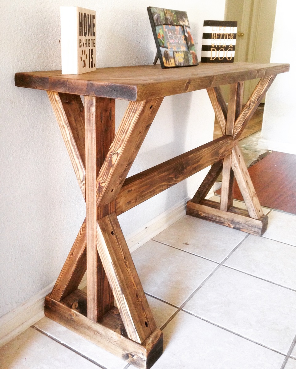 Rustic Wooden Foyer Bench : Ana white rustic entryway table diy projects