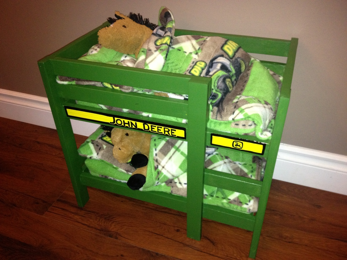 John Deere Bed Plans : Ana white john deere toy bunk bedl diy projects