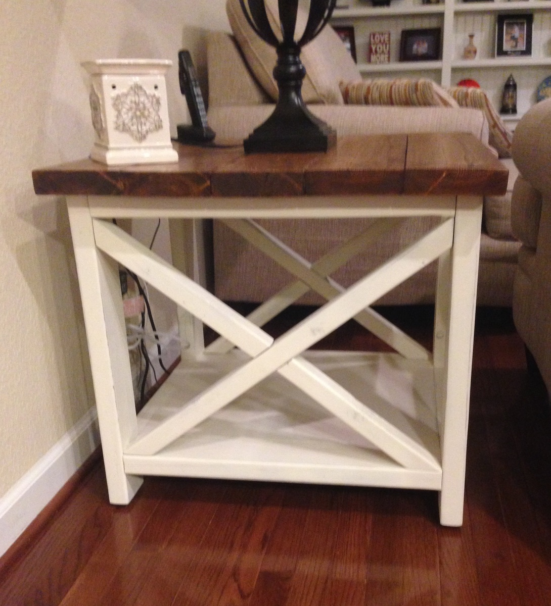 Ana White Rustic X End Table Diy Projects Ana White - Rustic x end table