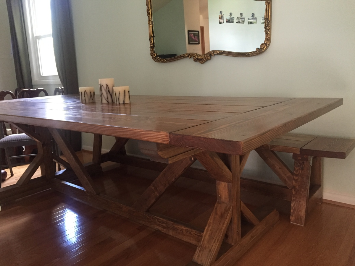 Ana White Fancy X Farmhouse Table With Modifications