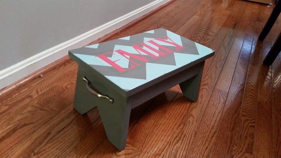 Tremendous Chevron Simple 1X10 Single Step Stool Ana White Ncnpc Chair Design For Home Ncnpcorg