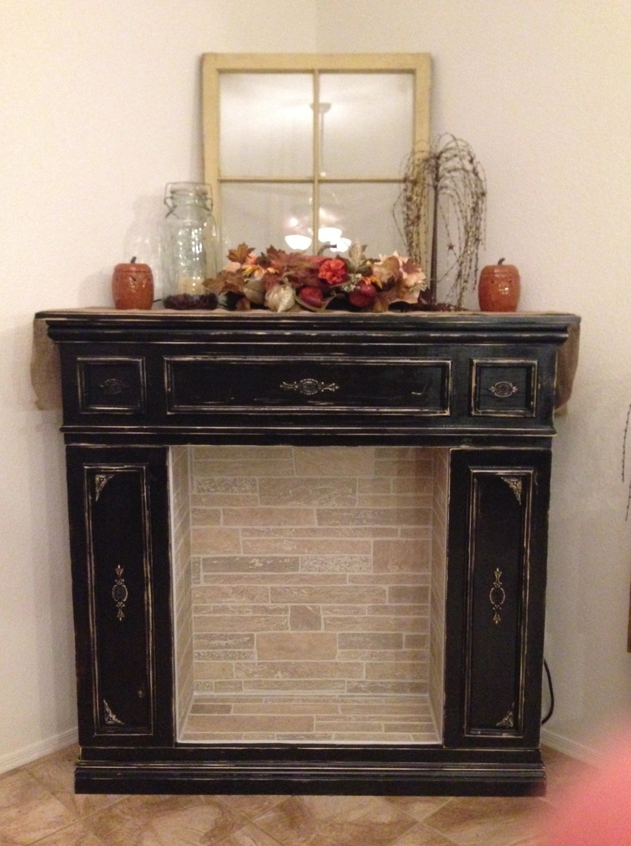 Ana White Faux Fireplace With Hidden Storage Cabinets