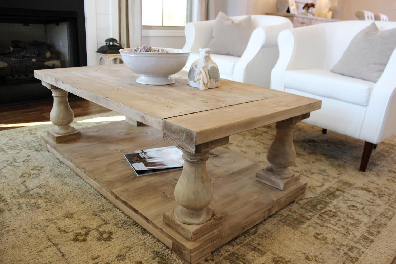 Light Wash Balustrade Coffee Table Ana White