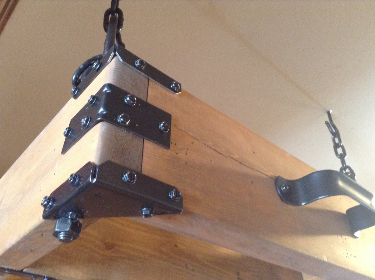 Ana White | Rustic Pot Rack - DIY Projects