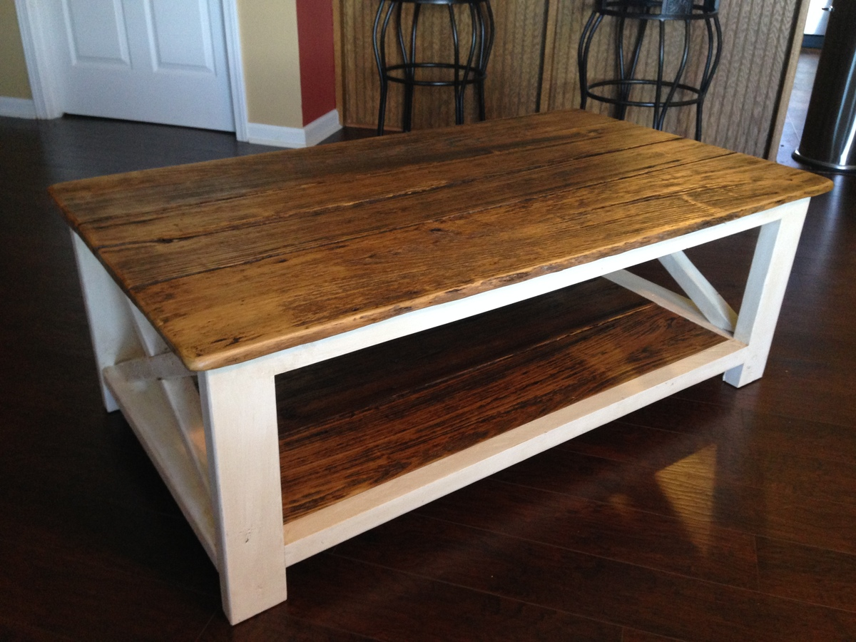 Ana White Repurposed Barnwood Top Diy Projects