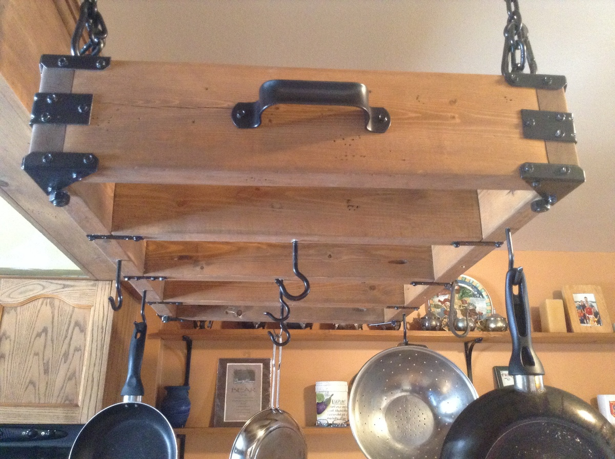 Ana White Rustic Pot Rack Diy Projects