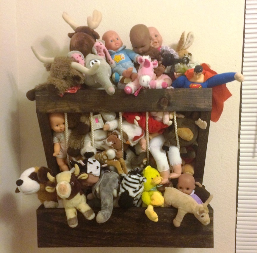 DIY Hay Feeder Stuffed Animal Storage