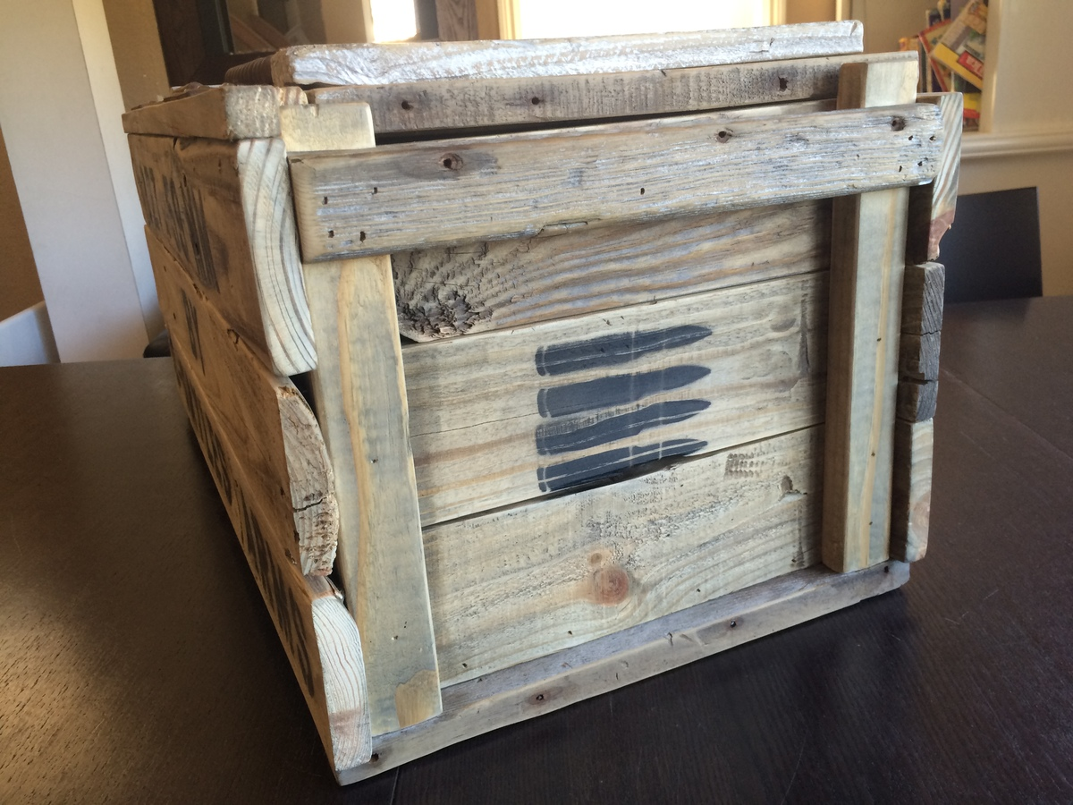 Ana White Personalized Vintage Ammo Crate Diy Projects