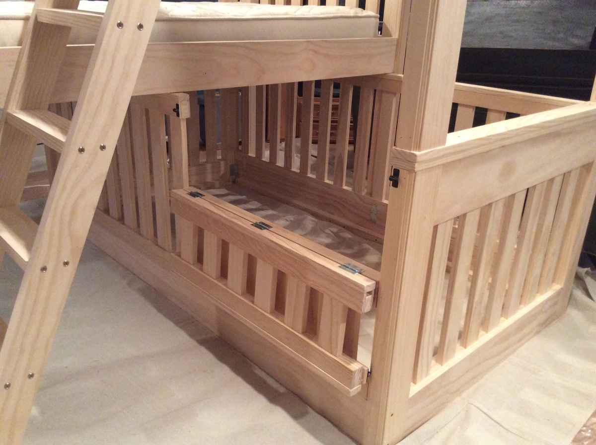 Bunk bed crib 28 images marino bunk bed over crib casa for Double decker crib