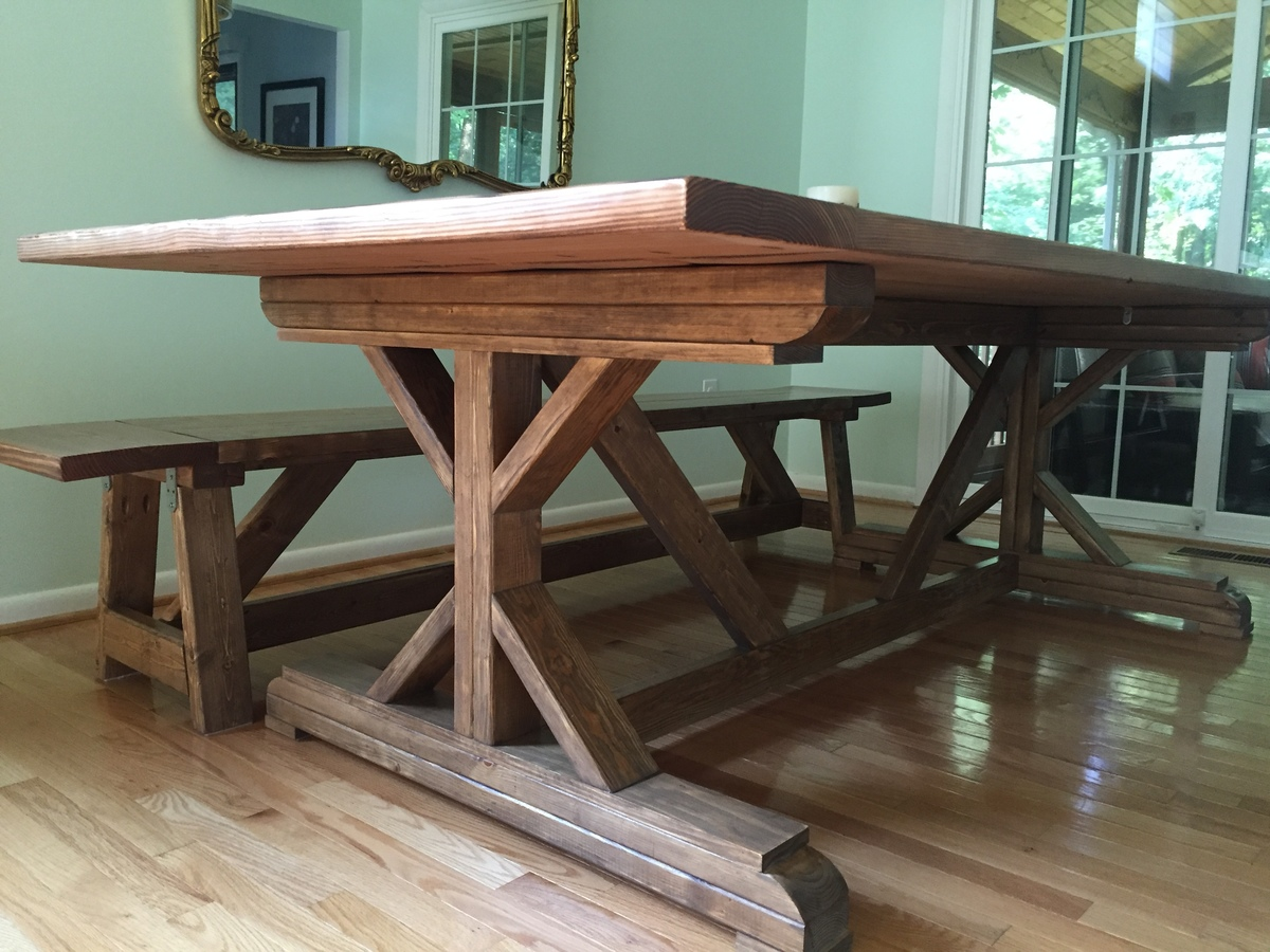 Ana white fancy x farmhouse table with modifications for Fancy farmhouse