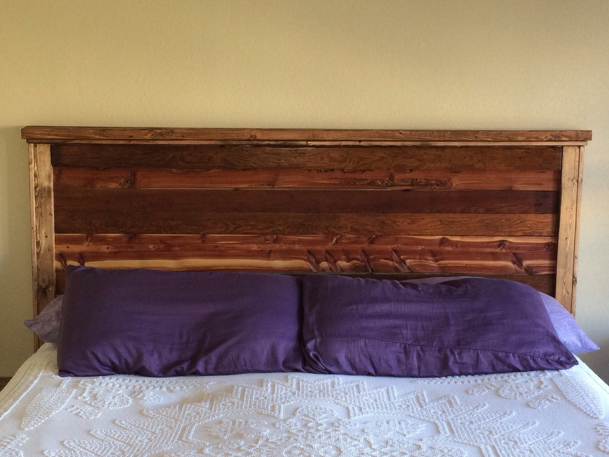 First Project Reclaimed Wood Look King Size Headboard
