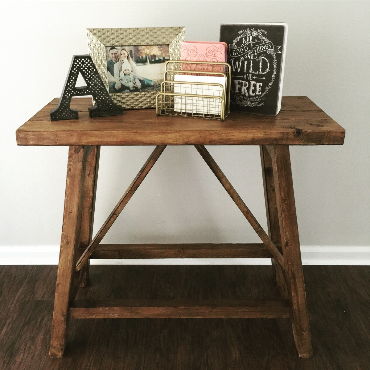 Pottery Barn Inspired Truss End Tables - DIY