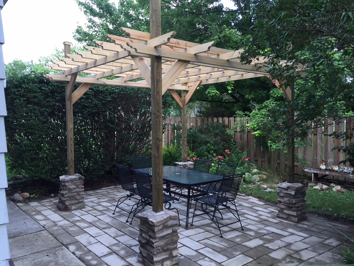 Ana White Northwest Ohio Pergola Diy Projects