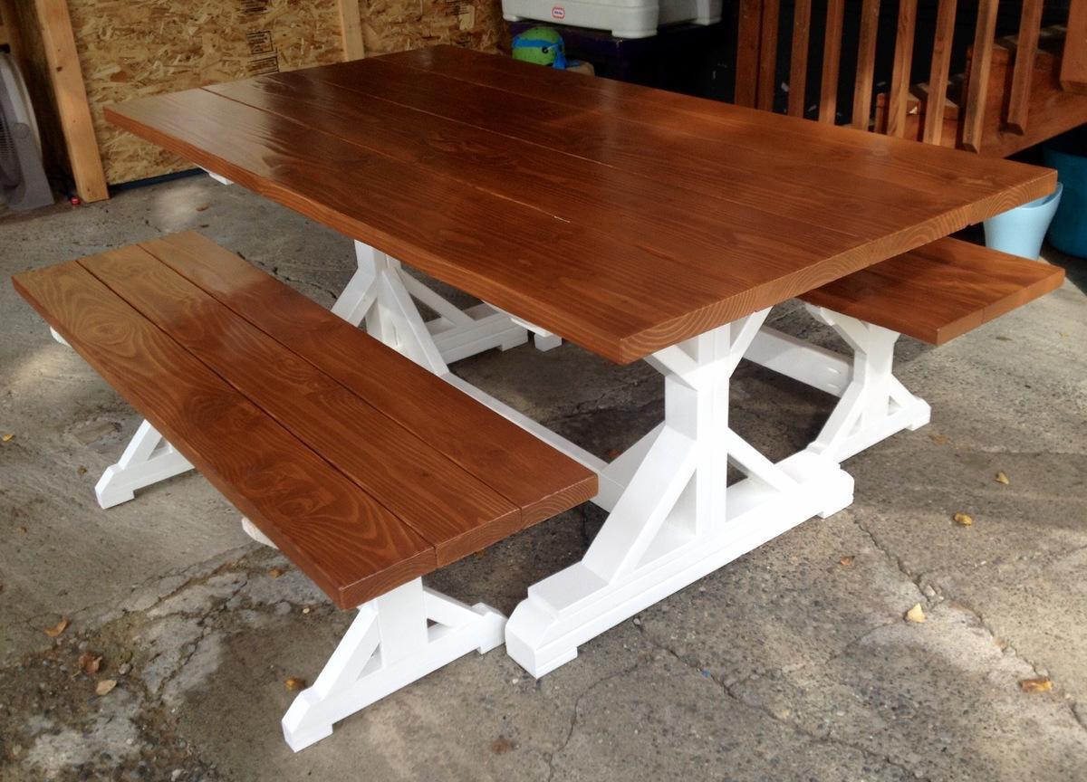 farmhouse table plans pdf Ana White | Fancy X farm table   DIY Projects farmhouse table plans pdf