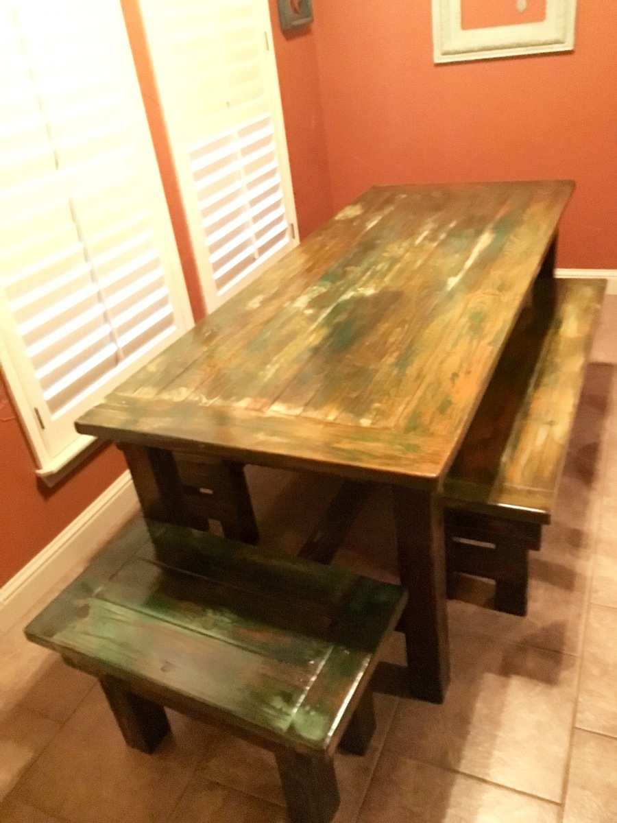 Charmant Handmade Farm Table