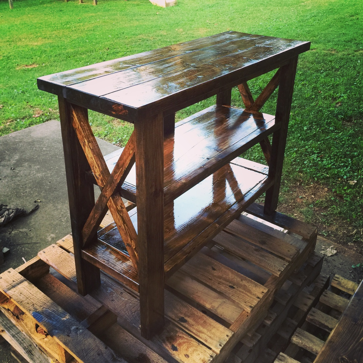 Rustic X Console Table Size Modified 36 Quot X 16 5 Quot X 40