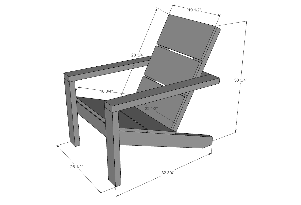 Adirondack chair dimensions