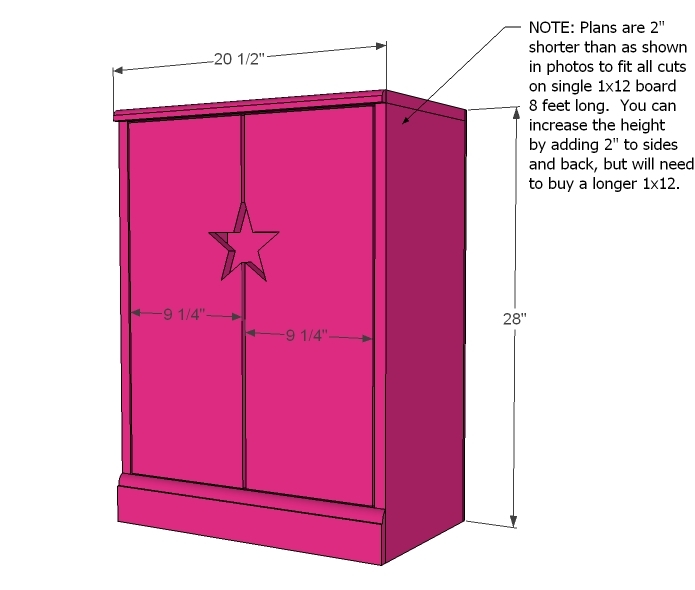 Star Doll Closet For American Girl Or, 18 Inch Doll Armoire