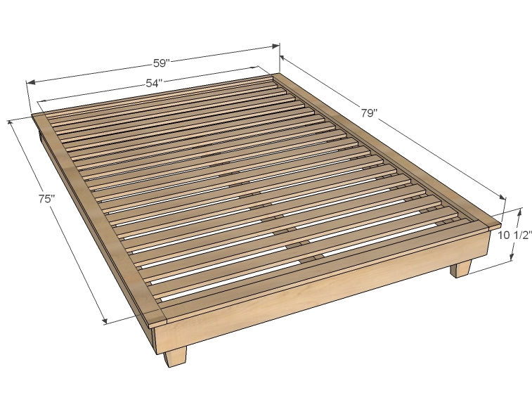 Queen Platform Bed Frame Plans