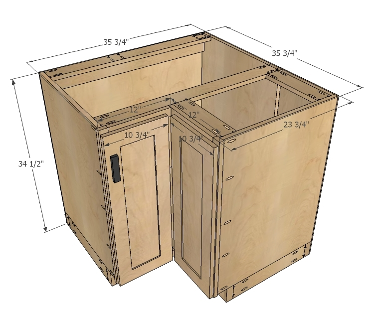 Cabinet Is Designed For Standard 36 X 36 Corner With 34 1 2