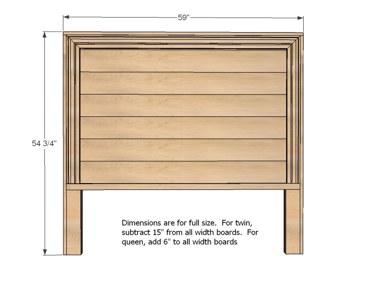 easy to build wood headboard