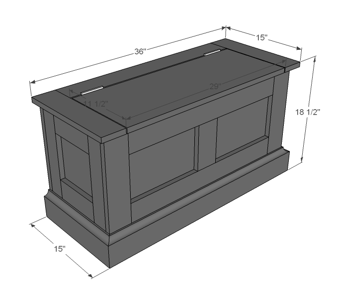 entryway storage bench plans