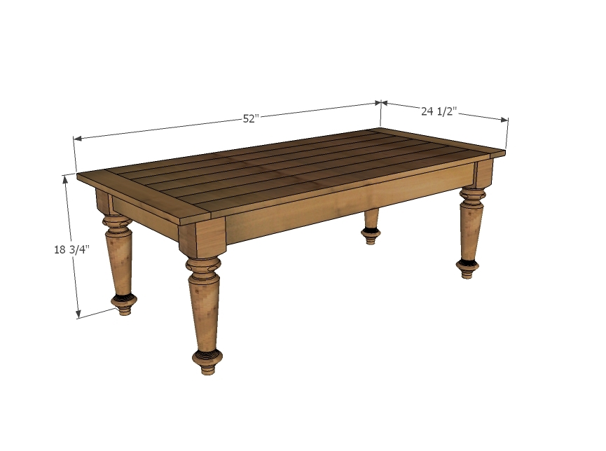 PDF Plan Standard Coffee Table Measurements