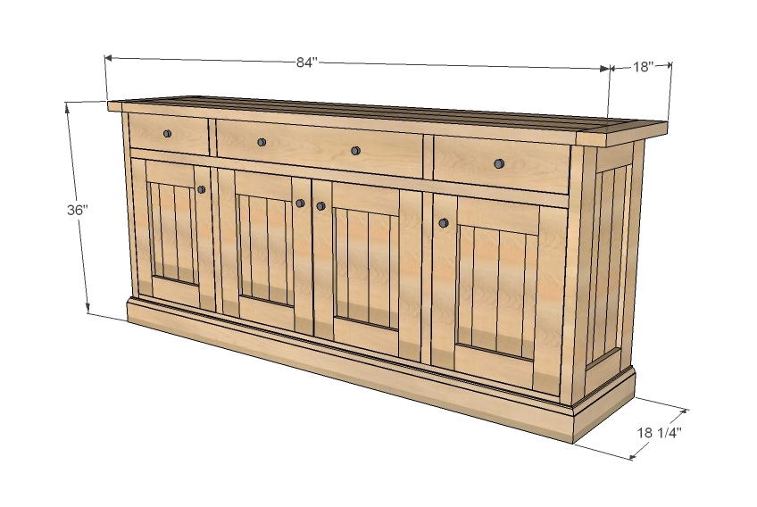 Wood Plans Buffet PDF Woodworking