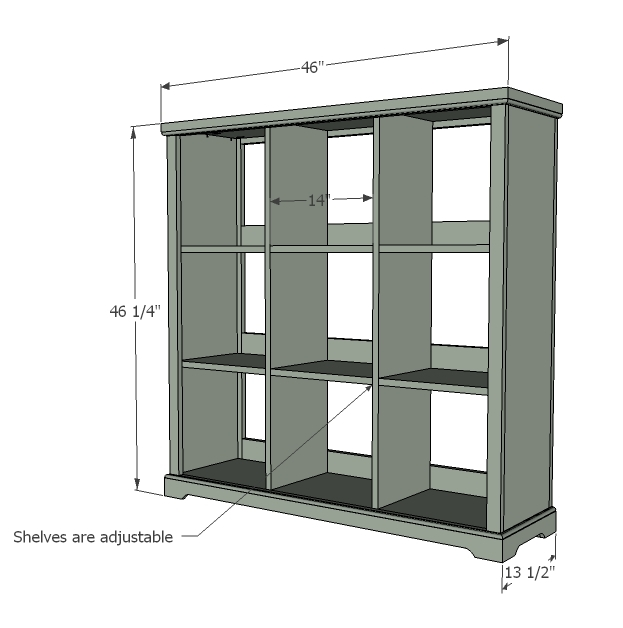 Awesome Cubby Bookshelf Large Ana White Home Remodeling Inspirations Cosmcuboardxyz