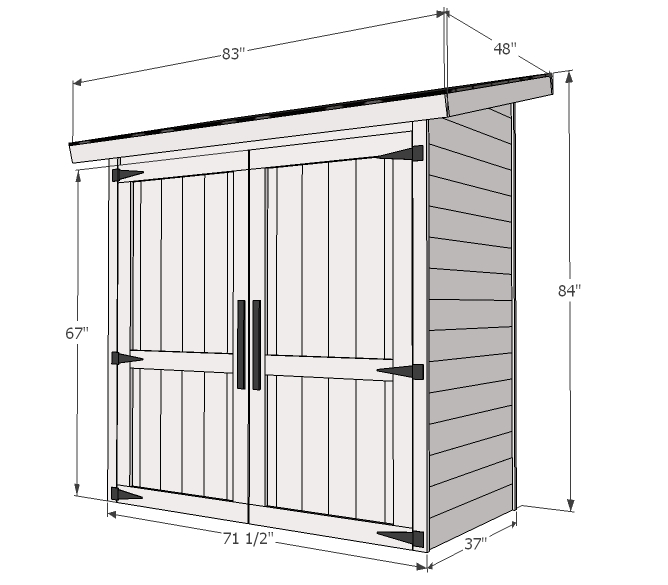 Small Cedar Fence Picket Storage Shed Ana White