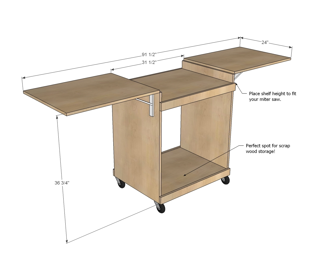 Incredible Miter Saw Cart Ana White Ncnpc Chair Design For Home Ncnpcorg