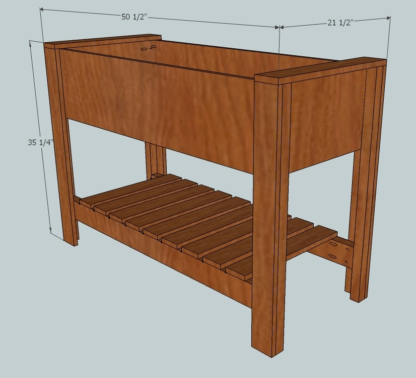 Charmant Raised Planter Box