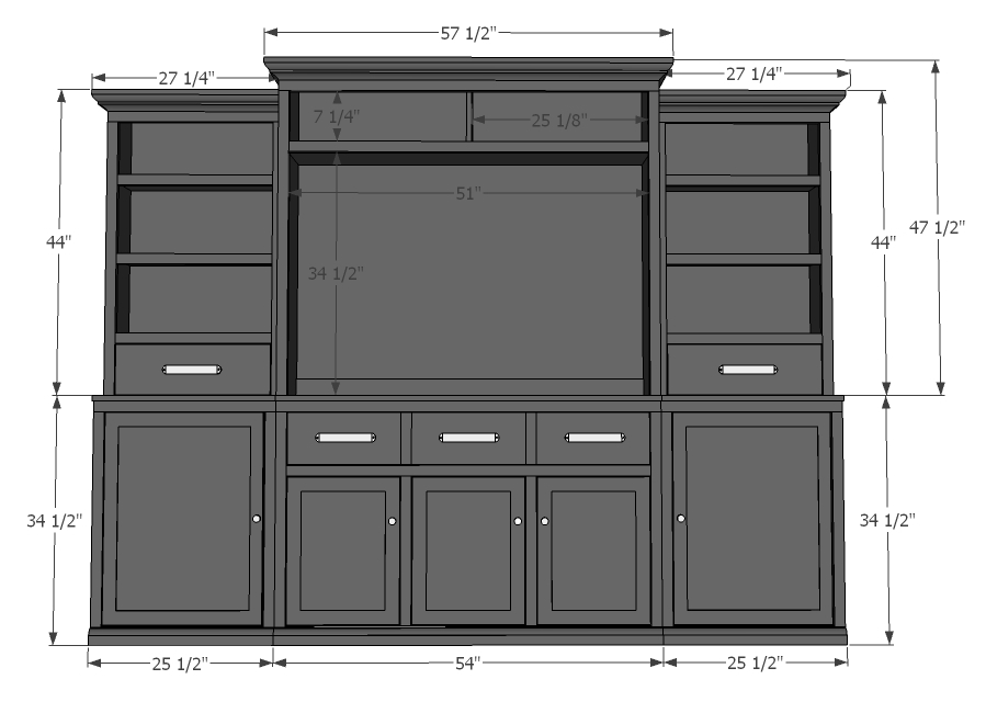 black entertainment center side cabinets woodworking plans