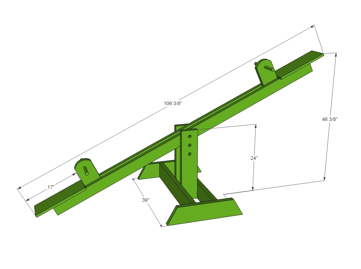 teeter totter or seesaw dimensions