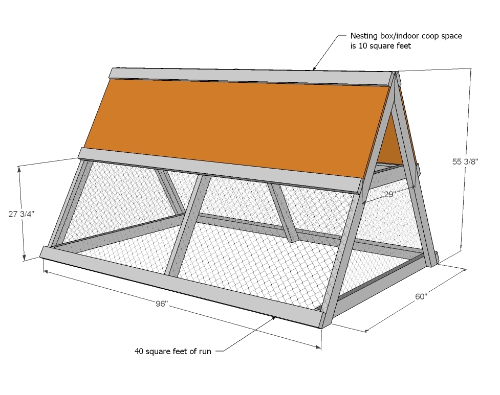A Frame Chicken Coop
