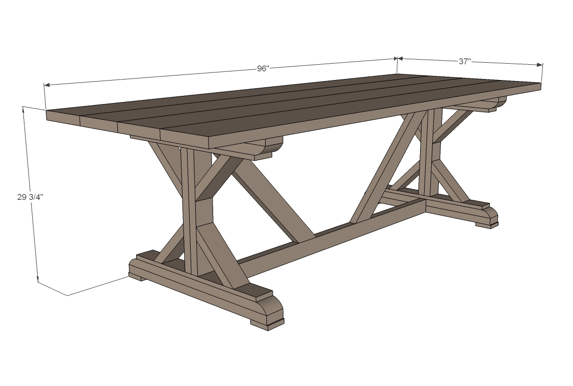 Plans For Dining Room Table