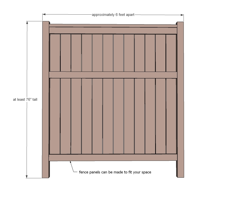 Ana white cedar fence diy projects dimensions baanklon Image collections