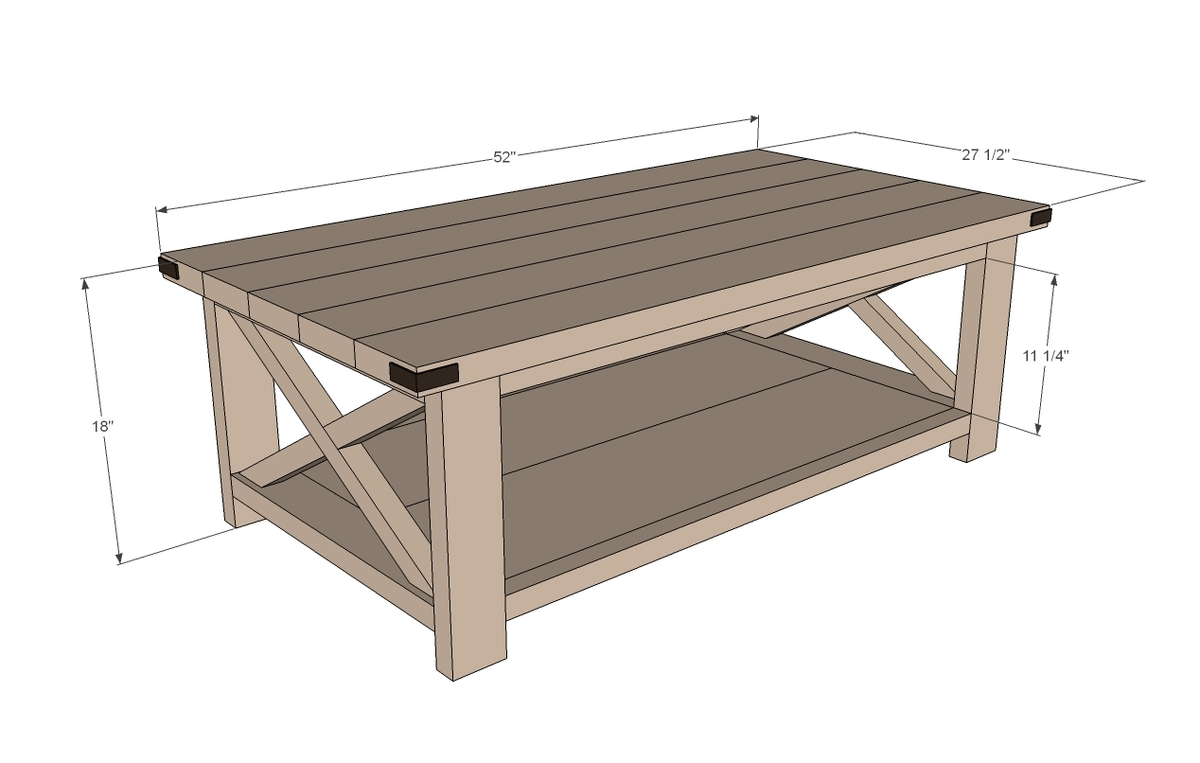 Plans A Rustic Coffee Table DIY Free Download
