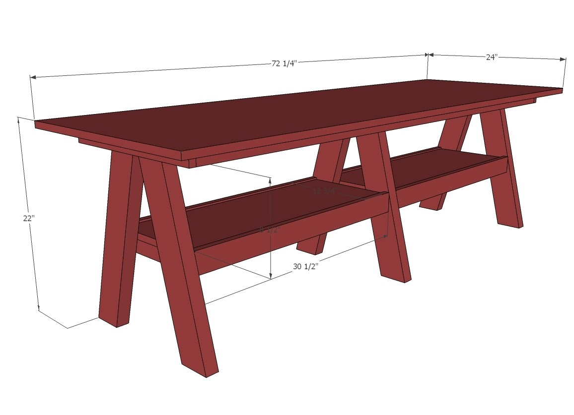 double trestle play table plans