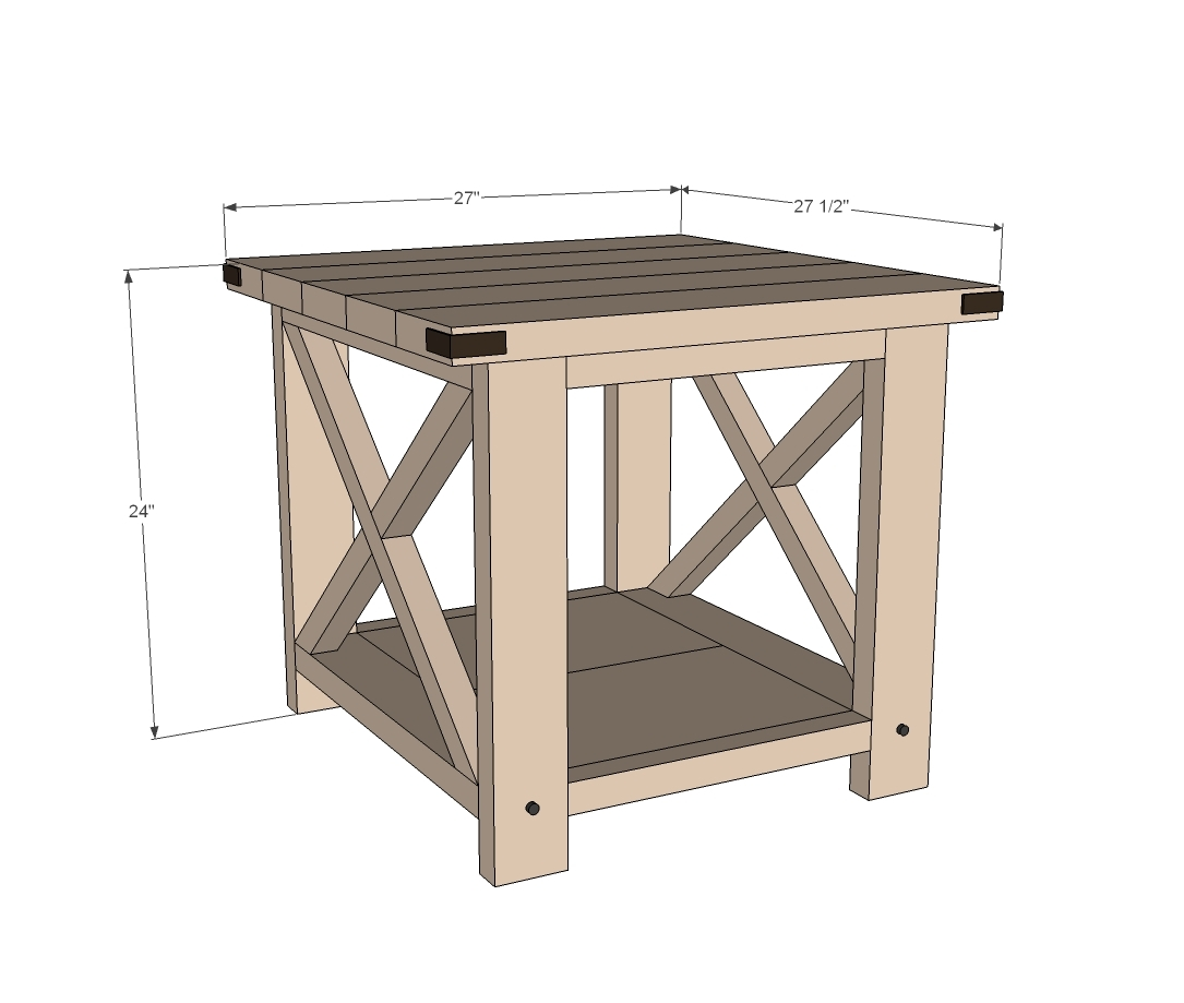 diy rustic furniture plans. rustic x end table diy furniture plans